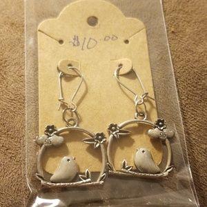 Little Bird hoop earrings